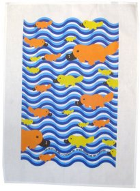 Tea Towel 50x70cm Linen/Cotton Platypus Fun
