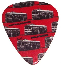 Guitar Pick Trams Red