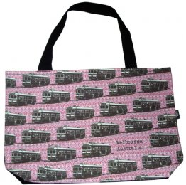 Shopper Bag 30x40x10cm Trams Pink