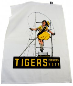 Tea Towel 50x70cm Linen/Cotton Skipping Girl Tiges 2017