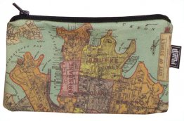 Pencil Case 18x10cm City of Sydney 1885 Map