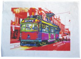 Tea Towel 50x70cm Linen/Cotton Chapel Street Tram