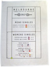 Tea Towel 50x70cm Linen/Cotton Tennis Capital 2017 Game Winners