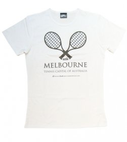 T-Shirt White Tennis Capital of Australia Large