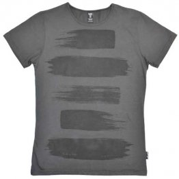 Unisex T-shirt Vintage Black Painted Stripes