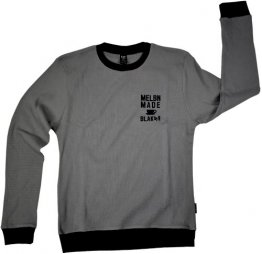 Unisex Long Sleeve Grey Waffle Top Melbn Made Coffee Cup