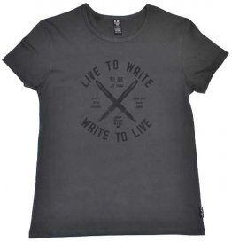 Blak Womens T-Shirt Vintage Black Live to Write
