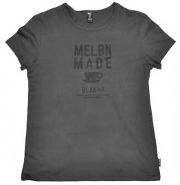 Blak Womens T-Shirt Vintage Black MELBN MADE coffee