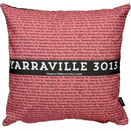 Cushion The Streets Stripe Coral