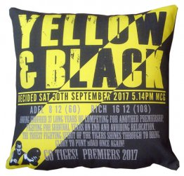 Cushion Yellow and Black Richmond 2017