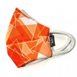 Face Mask Triangular Pattern Orange
