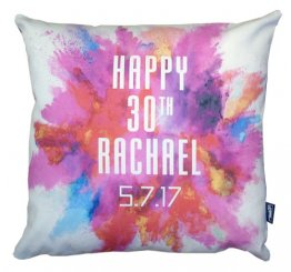 Cushion Personalised Happy Birthday Colour Explosion