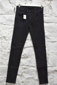 Mens Jeans Skinny Stretch Worn Black