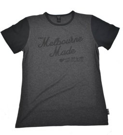 Unisex T-Shirt Charcoal/Black Sleeves Melbourne Made Script Print