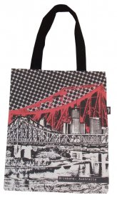 Tote Bag 40x33cm Story Bridge Red
