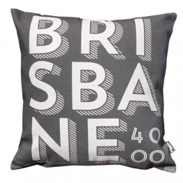 Cushion Brisbane 4000 Text Black