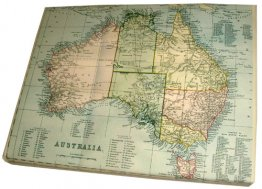 Art Canvas 20x25cm Australia 1870 Map
