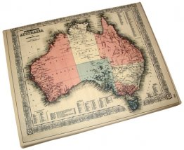 Canvas Art 20x25cm Johnsons map of Australia