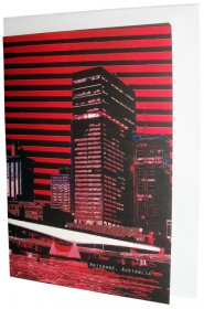 Greeting Card A6 Victoria Bridge Stripe Red