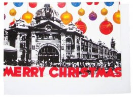 Greeting Card A6 Flinders St Merry Christmas