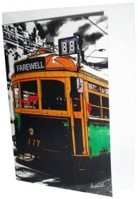 Greeting Card A6 Lucky Tram Farewell