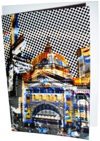 Greeting Card A6 Flinders Street Yellow