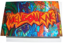 Greeting Card A6 Orange Melbourne Graffiti