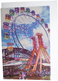 Greeting Card A6 Ferris Wheel & Bridge