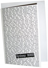 Greeting Card A6 The Sydney Streets White