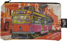 Pencil Case 18x10cm Chapel St Tram Red