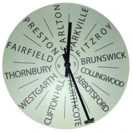Clock 27cm Personalised Destination Mint (your own 12 destinations)