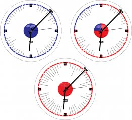Clock 27cm Tram Lines (Australian cities)