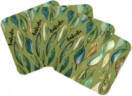 Coasters Set of 4 Gum Leaves