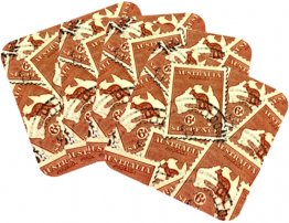 Coasters Set of 4 Kangaroo Stamps