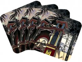 Coasters Set of 4 Amusing St.Kilda Luna ParkNatural