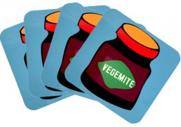 Coasters Set of 4 Vegemite Blue