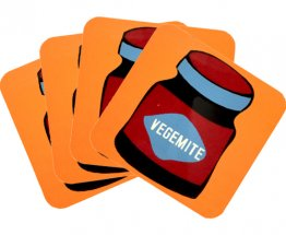 Coasters Set of 4 Vegemite Orange
