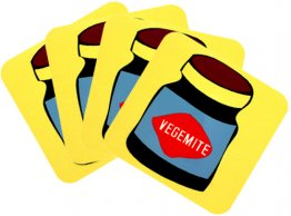 Coasters Set of 4 Vegemite Yellow