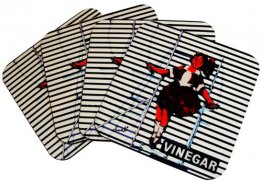 Coasters Set of 4 Skipping Girl