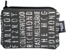 Ipod / Coin Case 13x9cm Melbourne Destinations Black