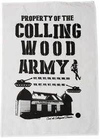 Tea Towel 50x70cm Linen/Cotton Collingwood Army