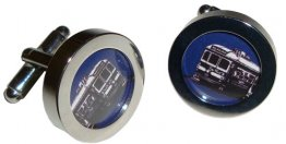 Cuff Links Trams Navy