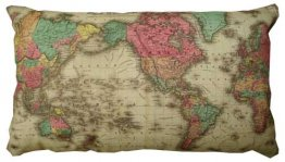 Cushion 50x30cm Colton's World Map