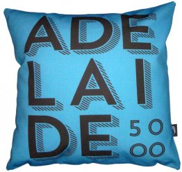 Cushion Adelaide Text Ocean Cirlces