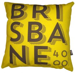 Cushion Brisbane Text Banana