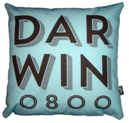 Cushion Darwin Text Sky Circles