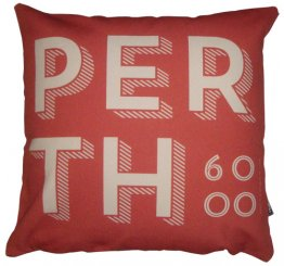 Cushion Perth Text Outback