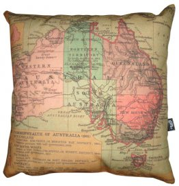 Cushion Australian Map 1923 (Various Colours)