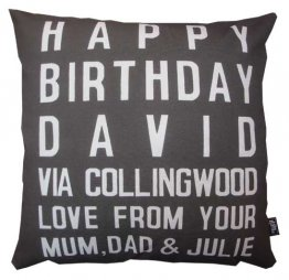 Cushion Destination Birthday