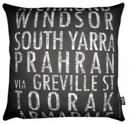 Cushion Destination Scroll Richmond to Armadale Vintage (Various Colours)